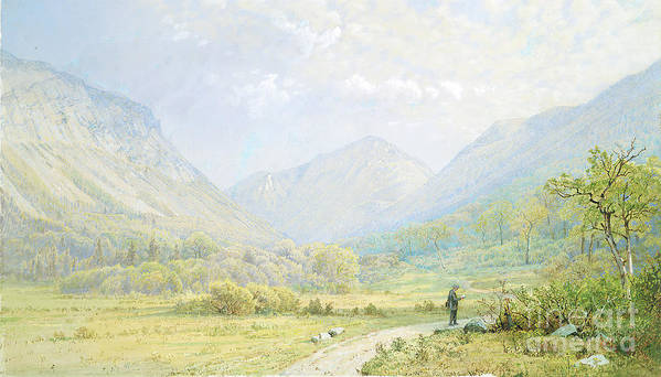 Gouache Art Print featuring the drawing Franconia Notch by Heritage Images