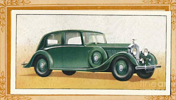Rolls Royce Art Print featuring the drawing Rolls-royce 20-25 Saloon, C1936 by Print Collector