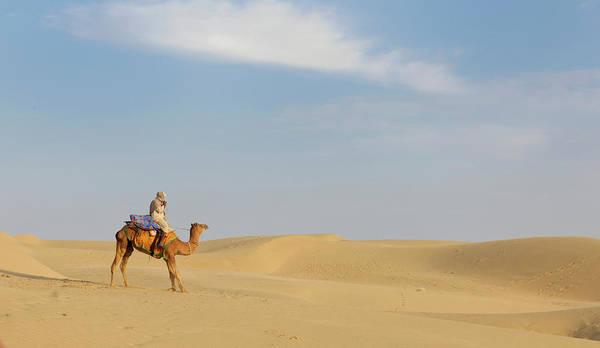 Tranquility Art Print featuring the photograph Sam Sand Dunes Near Jaisalmer, Rajasthan by Cultura Rm Exclusive/karen Fox