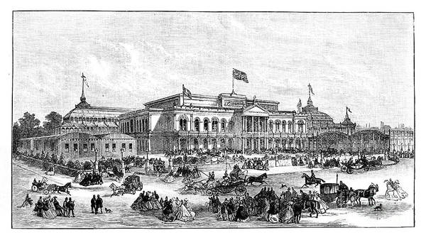 Event Art Print featuring the drawing The International Exhibition, Dublin by Print Collector