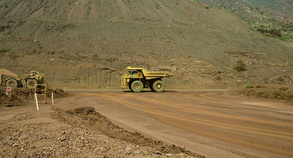 Southern Hemisphere Art Print featuring the photograph Tom Price Earthmover by Samvaltenbergs