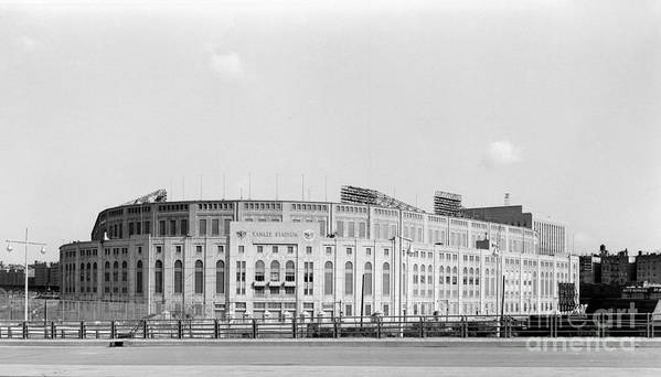 American League Baseball Art Print featuring the photograph Yankee Stadium by Olen Collection