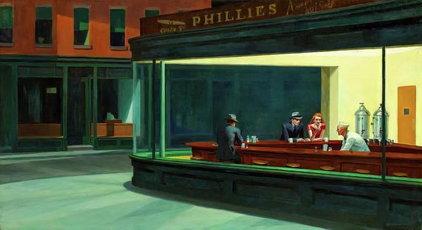 Nighthawks Art Print featuring the painting Nighthawks by Edward Hopper