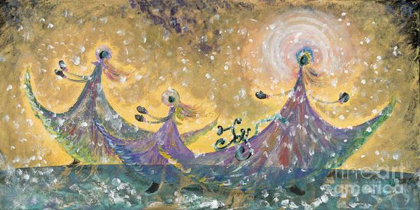 Joy Art Print featuring the painting Snow Joy by Nadine Rippelmeyer