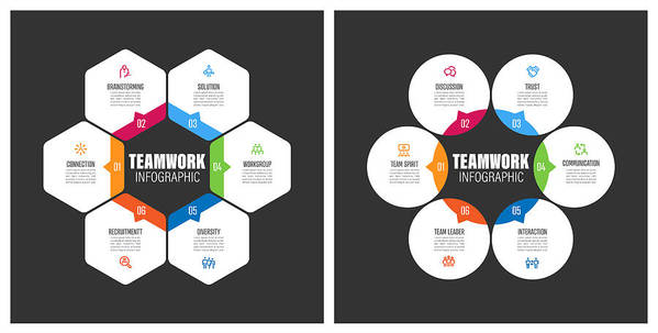 Diversity Art Print featuring the drawing Teamwork Chart With Keywords by Enis Aksoy