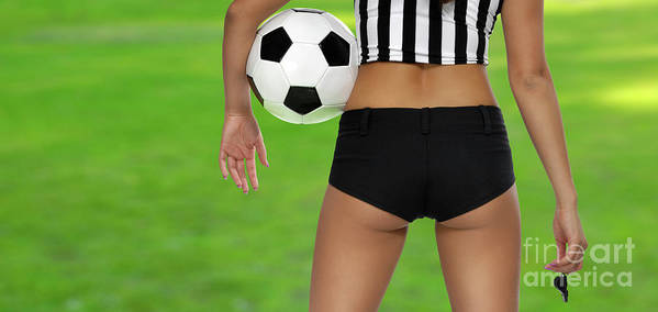 Soccer Art Print featuring the photograph Sexy Referee by Maxim Images Prints