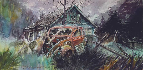 Ford Art Print featuring the painting Affordable by Ron Morrison