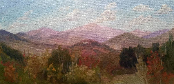 Mt. Washington Art Print featuring the painting Clear September Afternoon by Sharon E Allen