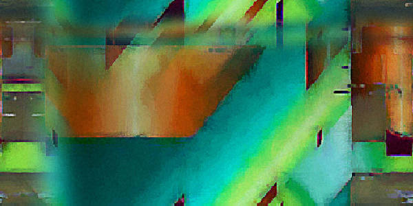 Digital Art Print featuring the digital art Digital Abstract 6 by Ilona Burchard