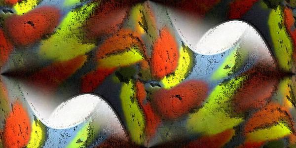 Digital Art Print featuring the digital art Digital Abstract World by Ilona Burchard