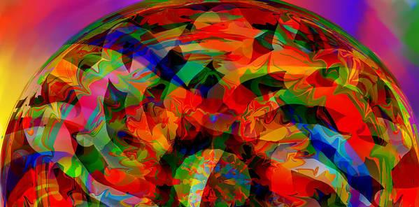 Horizon Art Print featuring the digital art Horizon by Peter Shor