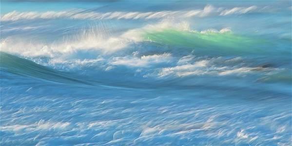 Nature Art Print featuring the photograph Light Wave at Asilomar, Pacific Grove, California by Zayne Diamond Photographic