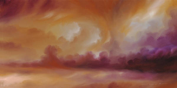 Tempest Art Print featuring the painting Storm Clouds 2 by James Christopher Hill