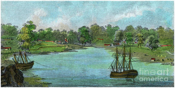 Engraving Art Print featuring the drawing Sydney Cove, New South Wales by Print Collector