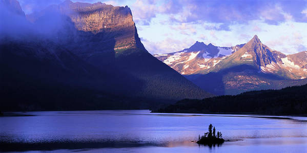 Scenics Art Print featuring the photograph Usa, Montana, Glacier Np, Mountains by Paul Souders