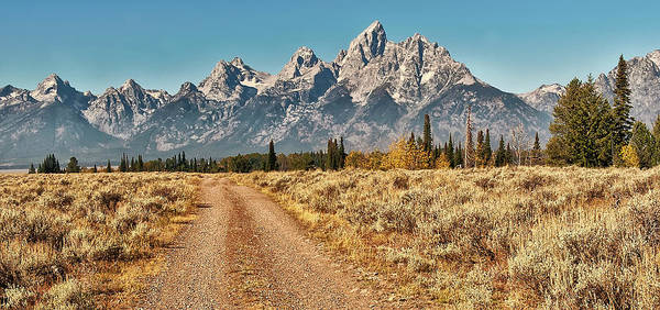 Tranquility Art Print featuring the photograph Dirt Road To Tetons by Jeff R Clow