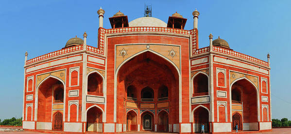 Arch Art Print featuring the photograph Humayuns Tomb, New Delhi by Mukul Banerjee Photography