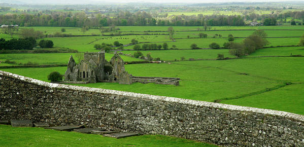 Scenics Art Print featuring the photograph Ireland Country Scape With Castle Ruins by Njgphoto