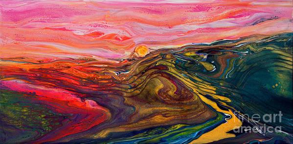 The Escape Scape 5294 w by Priscilla Batzell Expressionist Art Studio Gallery