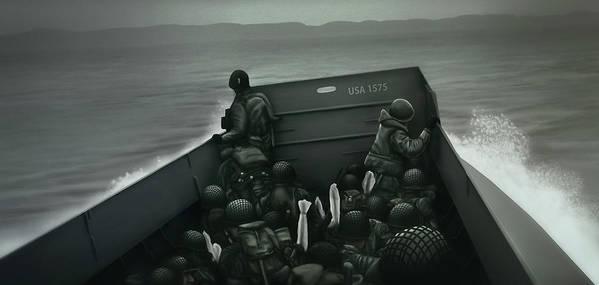 World War Two Art Print featuring the digital art Art - Heroes of War by Matthias Zegveld