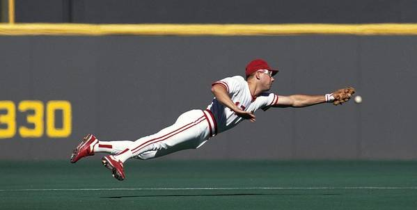Ball Art Print featuring the photograph Chris Sabo by Ronald C. Modra/sports Imagery