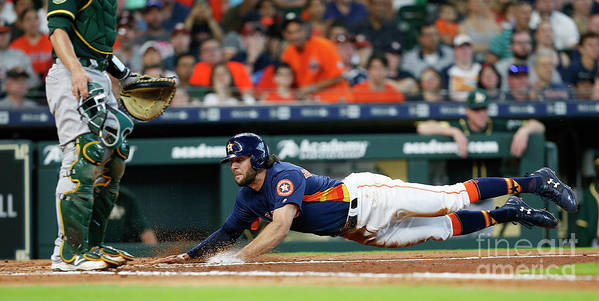 People Art Print featuring the photograph Jake Marisnick by Bob Levey