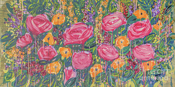 English Garden Art Print featuring the painting The Garden by Amanda Armstrong