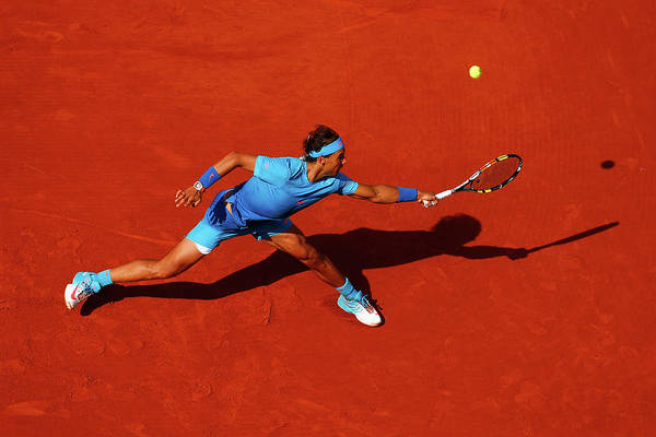 Rafael Nadal Art Print featuring the photograph 2015 French Open - Day Nine by Julian Finney