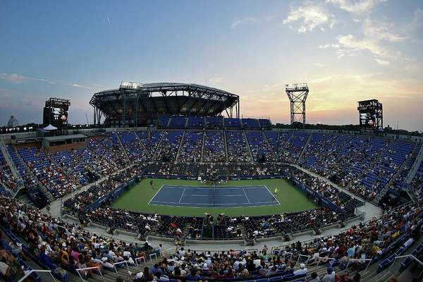 Tennis Art Print featuring the photograph 2015 U.s. Open - Day 1 by Streeter Lecka
