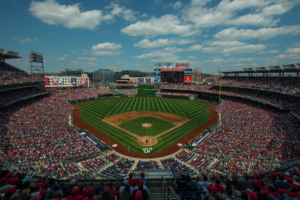 Motion Art Print featuring the photograph Atlanta Braves V. Washington Nationals by Rob Tringali