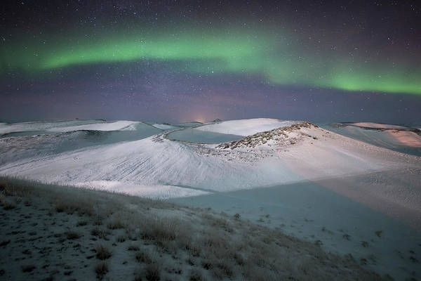 Scenics Art Print featuring the photograph Aurora, Myvatn, Iceland by David Clapp