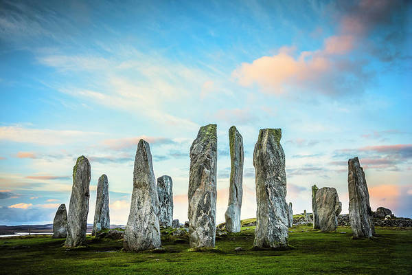 Prehistoric Era Art Print featuring the photograph Callanish Standing Stones, Isle Of Lewis by Theasis