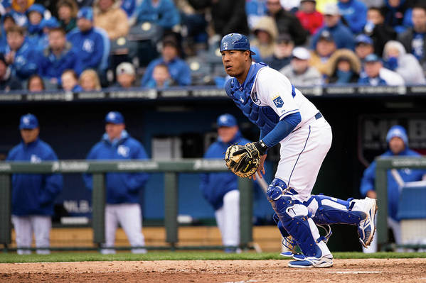 Salvador Perez Diaz Art Print featuring the photograph Chicago White Sox V. Kansas City Royals by John Williamson