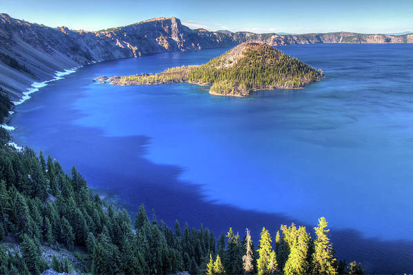 Crater Lake Art Print featuring the photograph Crater Lake, Oregon by Pierre Leclerc Photography