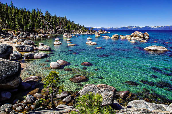 Blue Sky Art Print featuring the photograph Lake Tahoe Waterscape by Scott McGuire