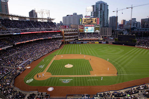 California Art Print featuring the photograph Los Angeles Dodgers V. San Diego Padres by Rob Leiter