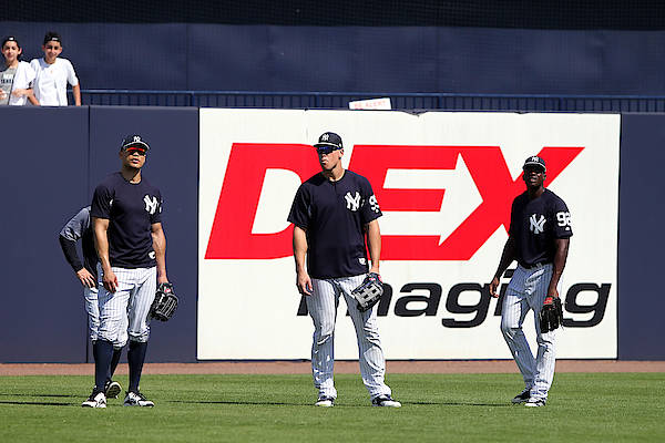American League Baseball Art Print featuring the photograph MLB: FEB 20 Spring Training - Yankees Workout by Icon Sportswire