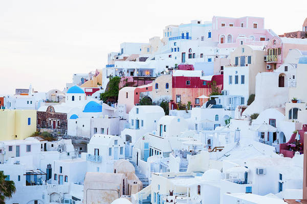 Tranquility Art Print featuring the photograph Oia by Jorg Greuel