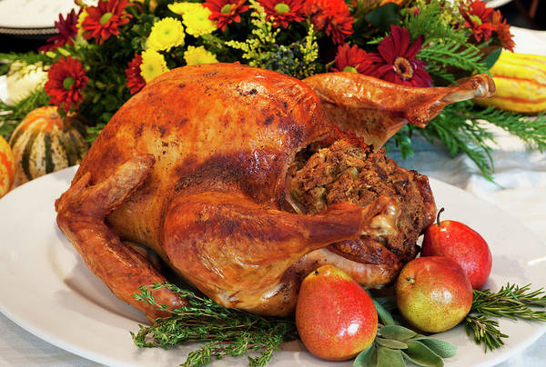 Stuffed Art Print featuring the photograph Roast Turkey by Tetra Images