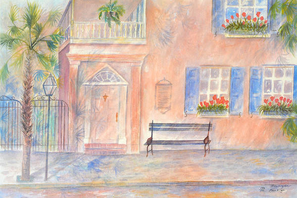Charleston Art Print featuring the painting Sunday Morning in Charleston by Ben Kiger
