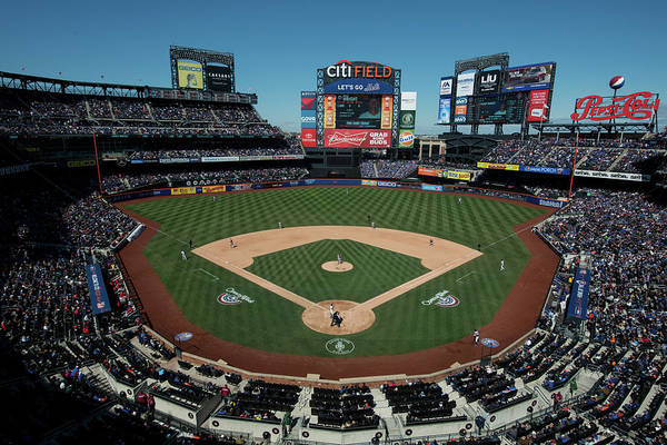 East Art Print featuring the photograph Washington Nationals V. New York Mets by Rob Tringali