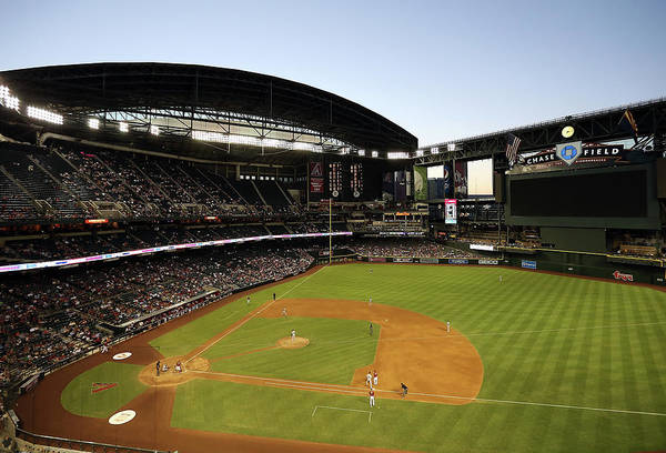 Motion Art Print featuring the photograph Colorado Rockies V Arizona Diamondbacks by Christian Petersen
