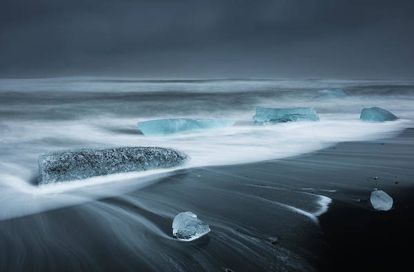 Water's Edge Art Print featuring the photograph Iceland by Jeremy Walker