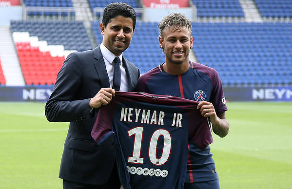 Following Art Print featuring the photograph Neymar Signs For PSG by Jean Catuffe