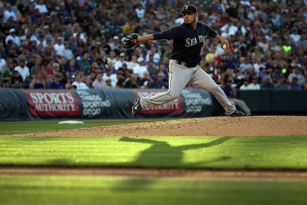People Art Print featuring the photograph Seattle Mariners V Colorado Rockies by Doug Pensinger