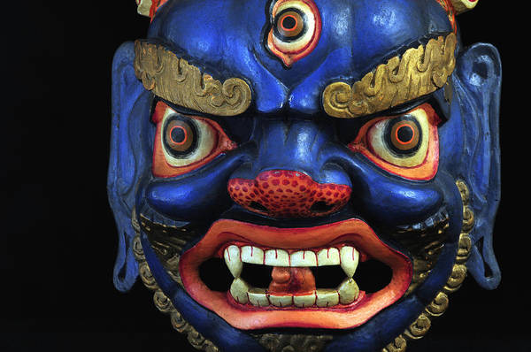 Colorful Art Print featuring the photograph Sikkim Dance Mask, India by Theodore Clutter