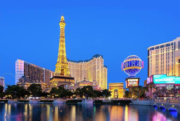 Las Vegas Replica Eiffel Tower Art Print featuring the photograph Usa, Nevada, Las Vegas, Paris Las Vegas by Sylvain Sonnet