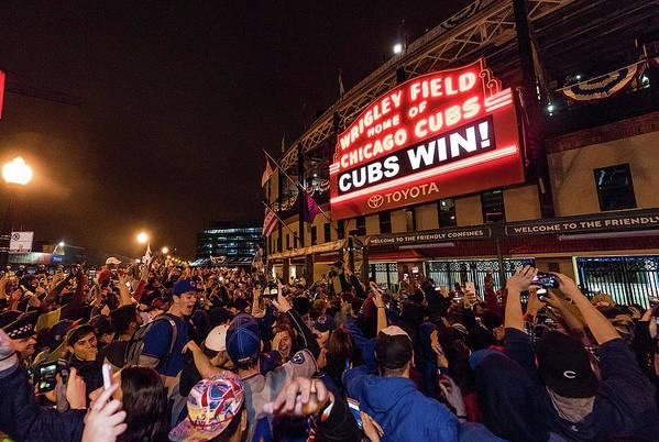 Playoffs Art Print featuring the photograph 2016 World Series - Chicago Cubs V by Matt Kosterman