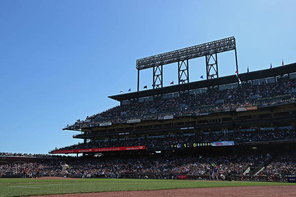 San Francisco Art Print featuring the photograph Colorado Rockies V. San Francisco Giants by Brad Mangin