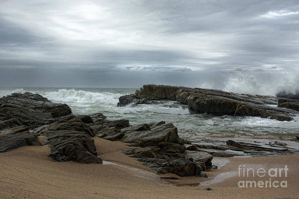 Seascape Art Print featuring the photograph Slipping Away by Glenda Wright